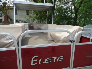 Seat covers for pontoon boat