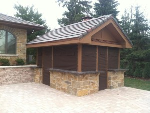 Outdoor kitchen custom canvas covers