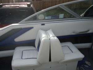 All Canvas Repair reupholstery of boat interior