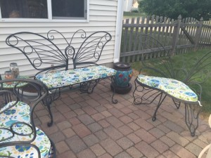 Butterfly seat cushions